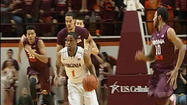 The University of Virginia defeated Virginia Tech for the third straight time in Blacksburg, 74-58.  Evan Nolte led the Cavaliers with a career high 18 points, including 5 three-pointers. Joe Harris added 17.