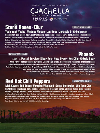 Coachella 2013: The complete lineup