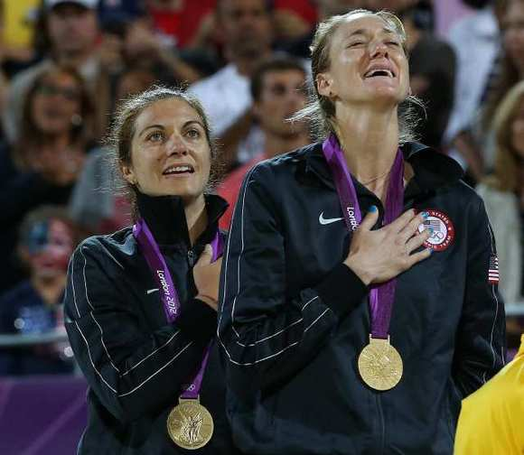 Misty May-Treanor, left, and Kerri Walsh Jennings won their third straight Olympic gold medal at the London Games.