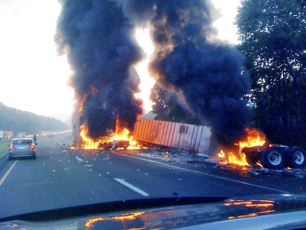 This 2010 crash on Interstate 78 in Lower Saucon Township killed a Palmer Township man; it was caused by a trucker who fell asleep and was later convicted of homicide by vehicle.