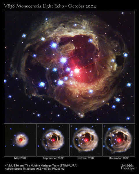 V838 Monocerotis experienced a well-documented outburst in 2002. Scientists say this was probably a so-called common envelope event.
