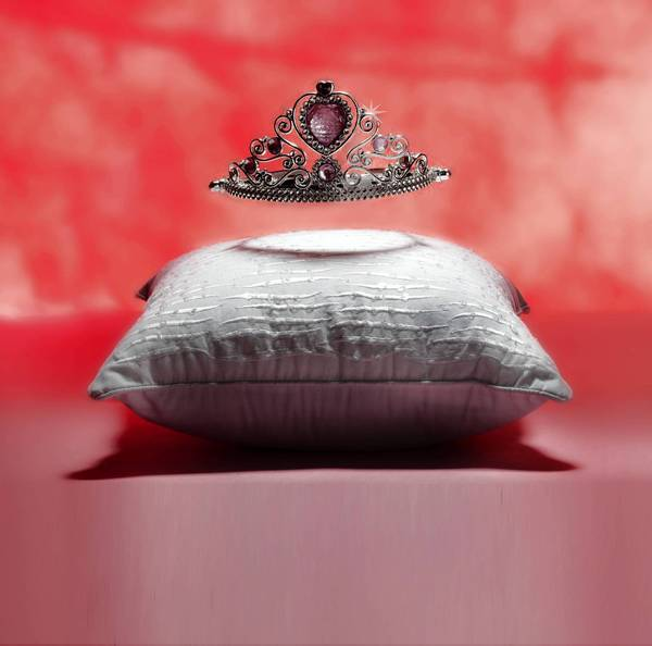 Photo illustration of a princess tiara.