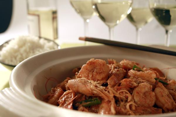Caramelized lemongrass shrimp