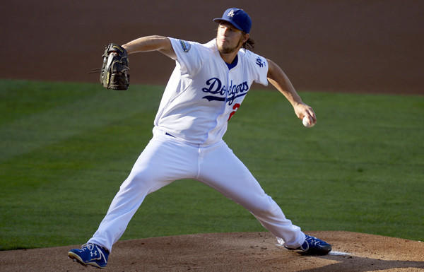 Dodgers ace Clayton Kershaw struck out eight Giants in the final game of last season.