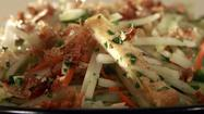 Recipe: Green papaya salad with <i>rau ram</i>, peanuts and crispy shallots
