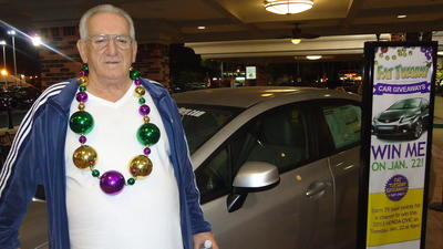 Car winner at Mardi Gras