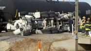 Photos: Train strikes cement truck in S. Wichita