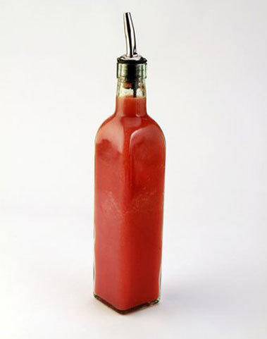 Home made Sriracha style hot sauce.