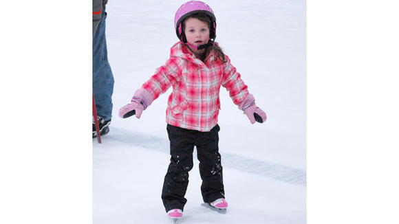 Reese  Henski takes part in a  recent open skate the  Otsego County Sportsplex. Open  skating and swimming is a good way to bring new people into the facillity, according to executive director Bill Michaels.
