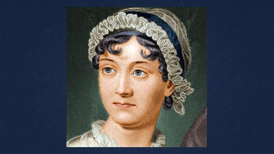 An illustration of Jane Austen from Biography.com