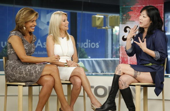 Pictured: (l-r) Hoda Kotb, Kathie Lee Gifford and Margaret Cho appear on NBC News' 'Today' show