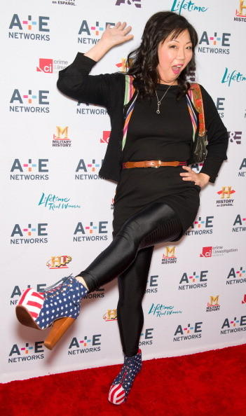 Margaret Cho attends the A&E Television Networks 2011 Upfront presentation at the IAC Building on May 4, 2011 in New York City.