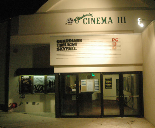 The Charlevoix Cinema III, shown here in December, is set to re-open after a three-week renovation project Friday, Jan. 25.