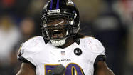 Ravens starting inside linebacker Dannell Ellerbe has a sprained right ankle and back injury that has sidelined him for two consecutive practices as the team prepares for the Super Bowl against the San Francisco 49ers.