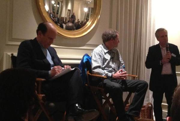 From left: Michael Milken, John Mackey and Jonathan Sokoloff.