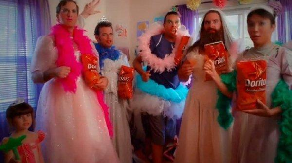 """Fashionista Daddy"" one of the five finalists that will compete in the Doritos Crash the Super Bowl contest."