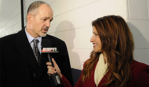 Rachel Nichols, shown interviewing Indianapolis Colts Coach Chuck Pagano earlier this year, is switching from ESPN to CNN and Turner Sports.