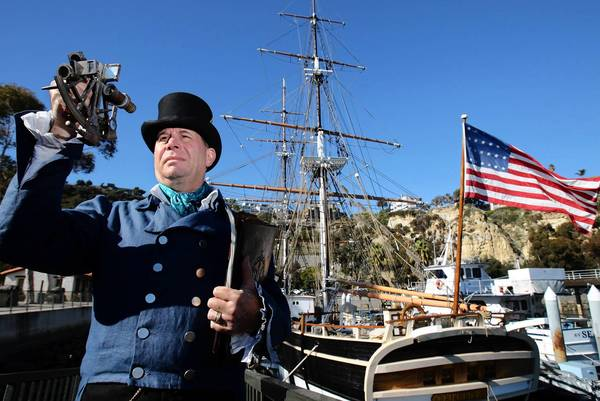 Gerald Freeman captains the Pilgrim in Dana Point Harbor. His crew? A bunch of little kids.