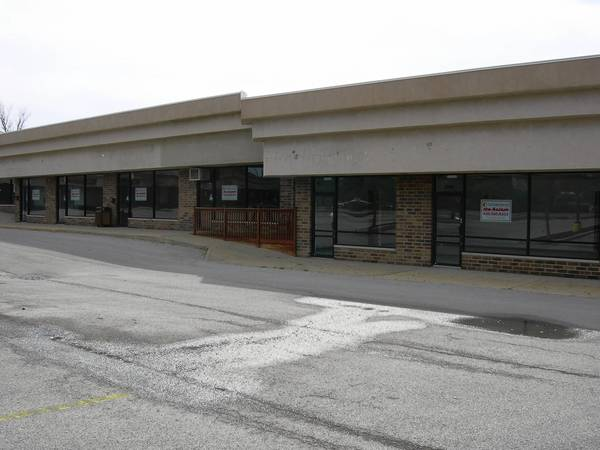 Empty storefronts plague a strip mall near Cass Avenue and 63rd Street in Westmont.