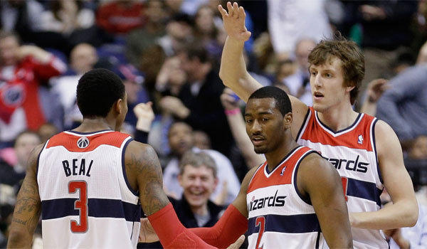 Bradley Beal, John Wall, Jan Vesely