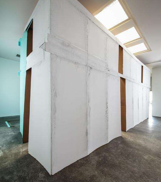 "Carlos Bunga's ""Future Anterior"" installation at Christopher Grimes Gallery."