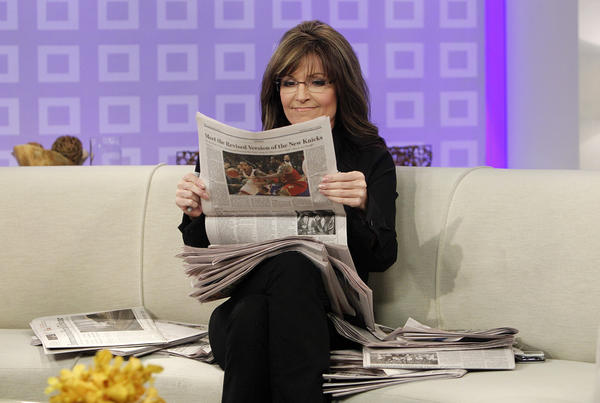 "Sarah Palin, pictured here as a guest host on ""Today,"" will not be returning to Fox News."