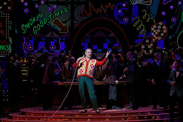 "Zeljko Lucic as the title character of Verdi's ""Rigoletto"" at the Metropolitan Opera in New York City, set in Las Vegas."