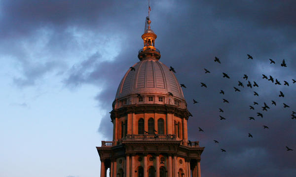 The Illinois State Capitol, Springfield. Standard & Poor's Ratings Service downgraded Illinois' credit rating.