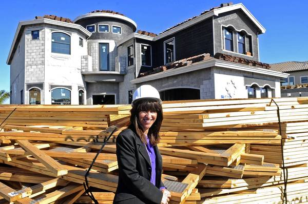 Portrait of GL Homes division president Marcie DePlaza on site at the company's newest community, The Bridges, west of Delray Beach.