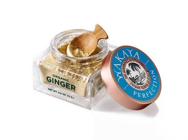 Wakaya, a potent organic Fijian ginger powder is a restorative facial scrub.