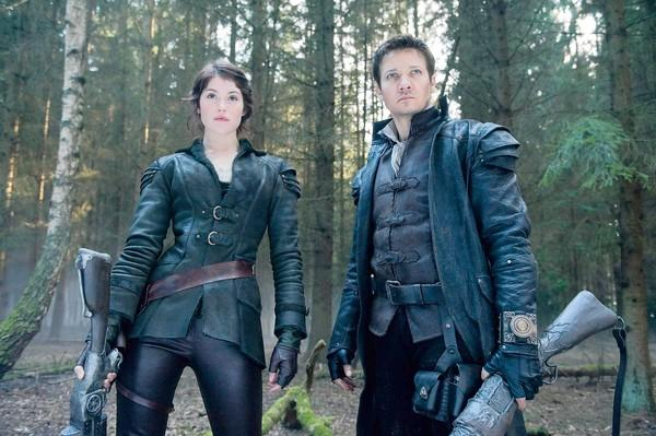 "Gemma Arterton is Gretel and Jeremy Renner is Hansel in ""Hansel & Gretel: Witch Hunters."""
