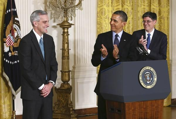 President Obama named Denis McDonough, left, a deputy national security advisor and longtime aide, as his chief of staff. He replaces Jacob J. Lew, right, Obama's nominee for Treasury secretary.