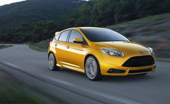 The Ford Focus ST has 252 horsepower and 270 pound-feet of torque routed to the front wheels via a six-speed manual transmission.
