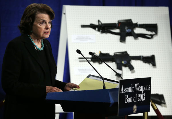 Sen. Dianne Feinstein (D-Calif.) introduces a bill that would ban the sale, transfer, manufacture or importation of certain assault weapons, including semiautomatic rifles favored by Mexico's infamous Zeta cartel.