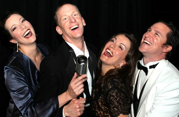 "Laura Hodos (from left), Kevin Kelly, Melissa Minyard and Christopher Alan Norton pay tribute to Frank Sinatra in ""My Way."""