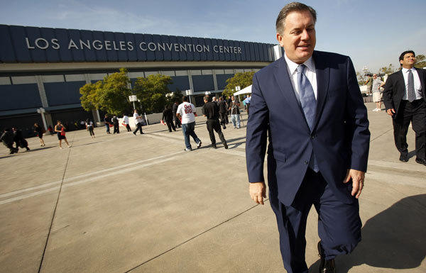 """I think, quite frankly, that it's difficult to keep on taxing businesses and individuals in the state of California. And if we're not careful, eventually we're going to make it difficult to do business in California and in the city of L.A.,"" AEG CEO Tim Leiweke, seen in October, says of Measure A. ""That said, I don't see another path."""