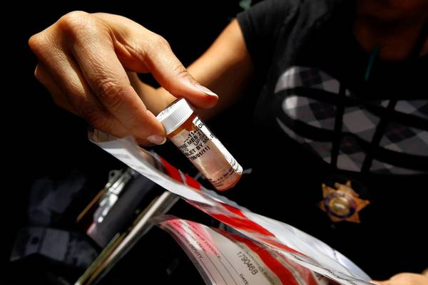 Vicodin was one of the prescription drugs confiscated by the Los Angeles County Health Authority Law Enforcement Task Force in a 2011 sting operation on a downtown L.A. street.