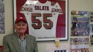 In 1950, the San Francisco 49ers traded Paul Salata to the Baltimore Colts. He doesn't hold any remorse toward the team because of it, far from it.