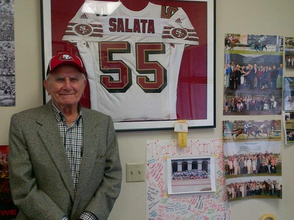 Paul Salata, creator of Mr. Irrelevant and a former San Francisco 49er, is headed to New Orleans to watch the Super Bowl.
