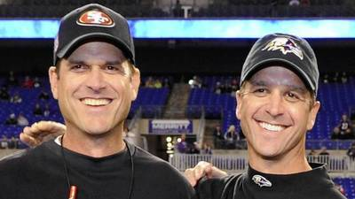 For Harbaugh brothers, a lifetime of competition comes full cir…