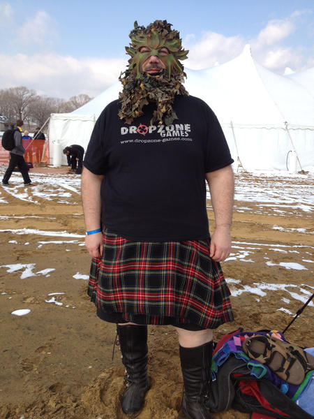 Jim Wilmering of Halethorpe took part in the Polar Bear Plunge costume contest Saturday at Sandy Point State Park near Annapolis.