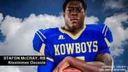 "<span style=""font-size: small;"">Kissimmee Osceola running back Stafon McCray, Central Florida's second leading rusher this past season has committed to USF, joining teammate CB Hassan Childs with the Bulls.</span>"