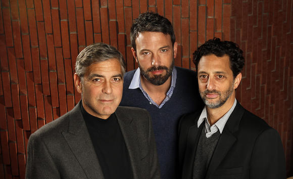 """Argo"" producers George Clooney, Ben Affleck and Grant Heslov."