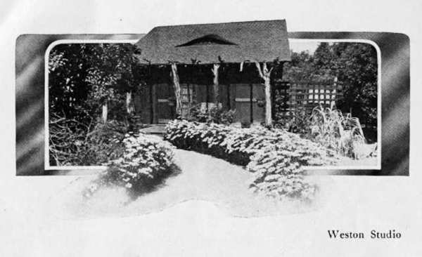 "Edward Weston opened a photography studio on Brand Boulevard just north of Tropico Avenue (now Los Feliz Boulevard) in 1911 and worked from the ""Little Studio,"" as he called it, for some 20 years."