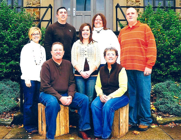 Lennie and Susan McCarney, in front, pose for this picture with their daughters and son-in-laws. In the back are, from left, Erin Gay, Justin Gay, Kerri McCarney, Kelly Benner and Mike Benner.