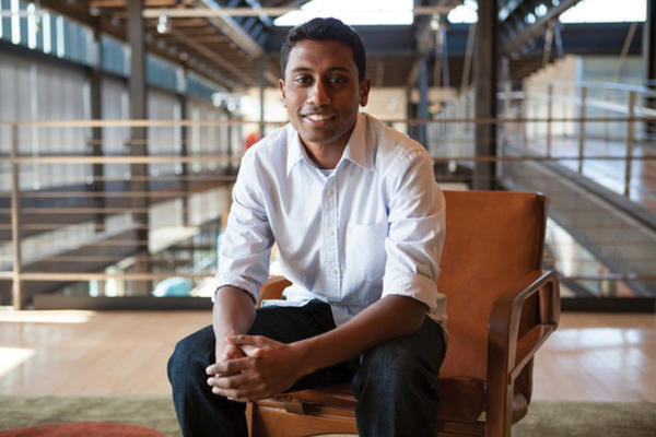 "Hagerstown native Hemagiri ""Hemu"" Arumugam works for Pixar Studios in Emeryville, Calif."
