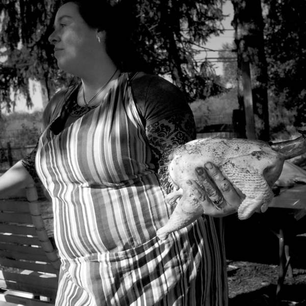 Untitled from The Family series of photographs by Larry Fink of Marshalls Creek. The works feature the family farm of a nurse near Hellertown he befriended while he was at Lehigh Valley Hospital for hip surgery. The family raises chicken, ducks and geese. The photographs are on display at Santa Bannon Fine Art Gallery in Bethlehem through Feb. 28.
