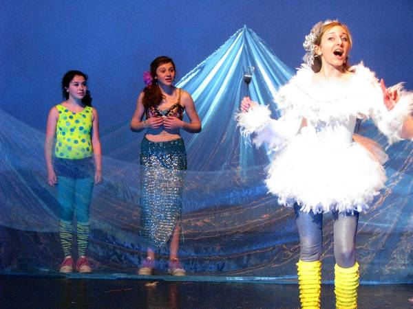 Scuttle, Ariel and Flounder in the Parkland High School's production of 'The Little Mermaid Jr.' through Jan. 27.