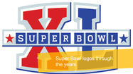Super Bowl logos through the years