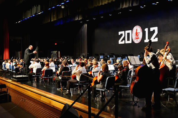 The All-County Middle School Orchestra under the direction of Dr. Jan Wagner of Shenandoah University performed first Saturday night at North Hagerstown High School.